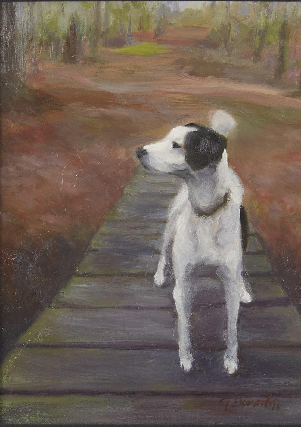 """White Dog on Dock"" Minnesota State Fair Fine Art Exhibition, 2013."