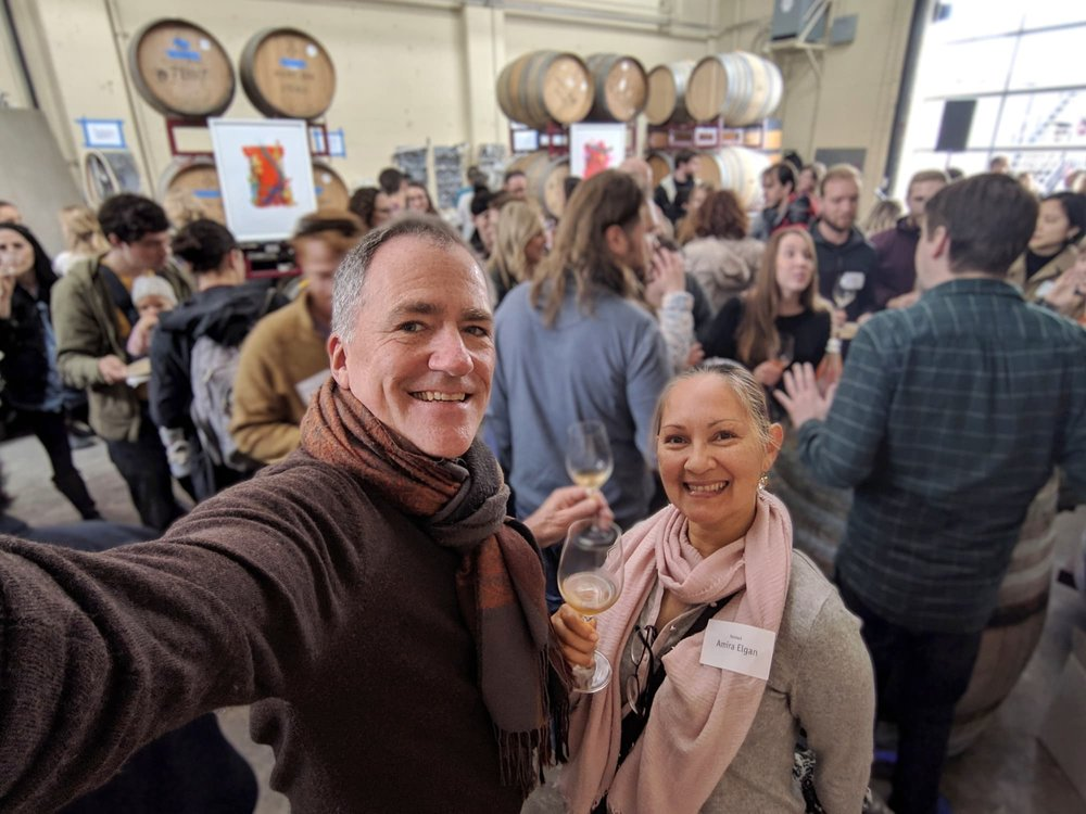 Amira and I had a wonderful time at Donkey & Goat's sold-out Spring Release party in Berkeley, California! Winemakers and owners Jared and Tracey rolled out seven new wines, all of which were incredible, as usual.