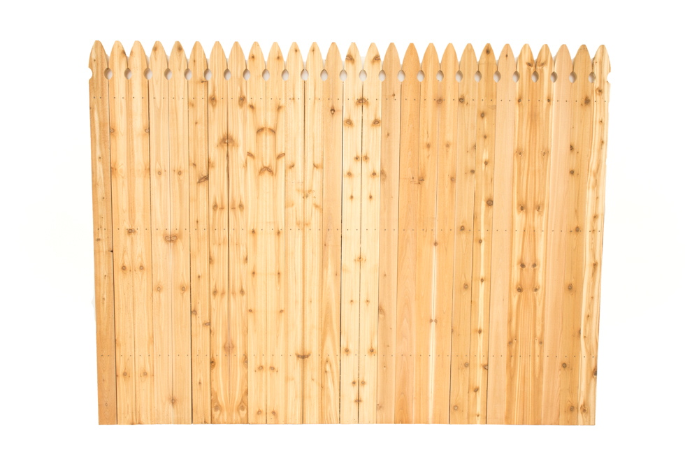 french gothic fence panel