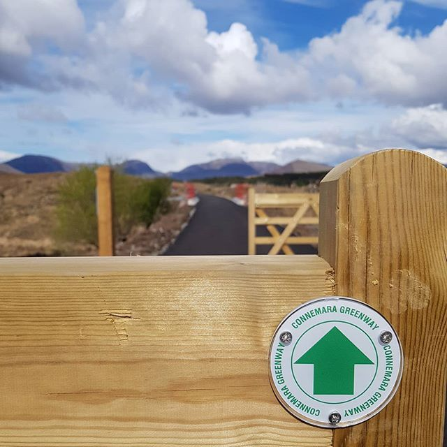Great day for  cycling new section of Connemara Greenway! . . . . . #connemaragreenway #nearlythere #cantwait #cycling #cyclingireland #wildatlanticway #lovegalway #thisisgalway #twowheels #instabike #getonyourbike #greenway #cycleroute #travel #greentravel #exploremore #neverstopexploring #letsgosomewhere #thehappynow #freshair #getoutside #greatoutdoors #mylifeoutside #instaIreland #travelireland #adventuretravel #travelauthentic #instagood #irland #irelanddaily