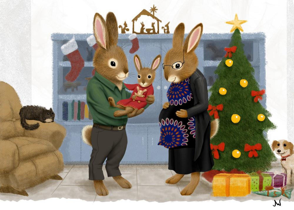 """Scarry Christmas Card"""