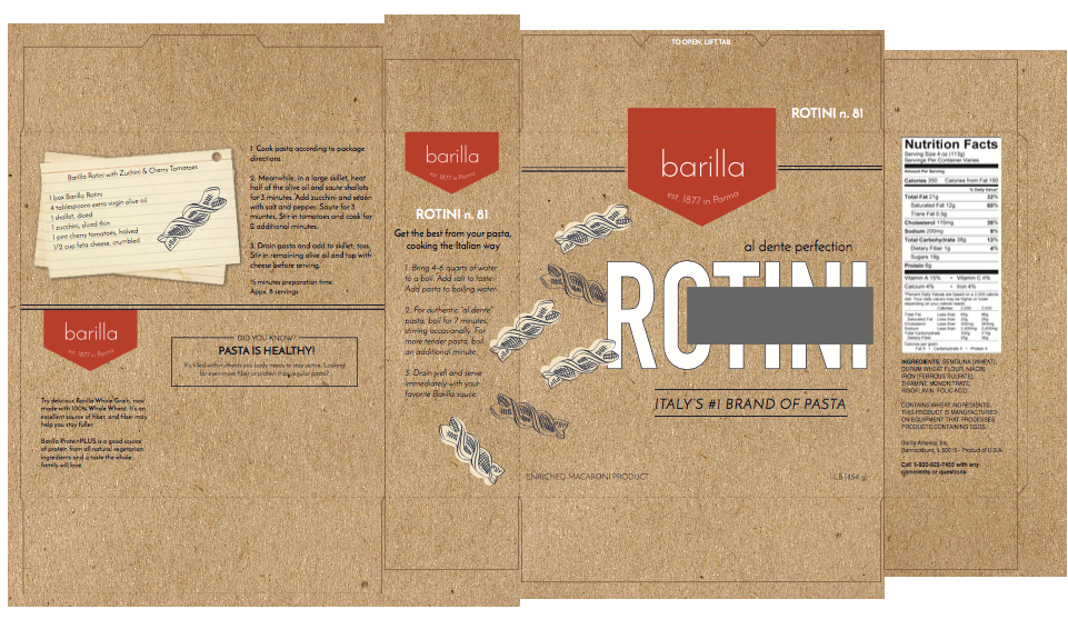 Barilla Pasta Concept: Rotini