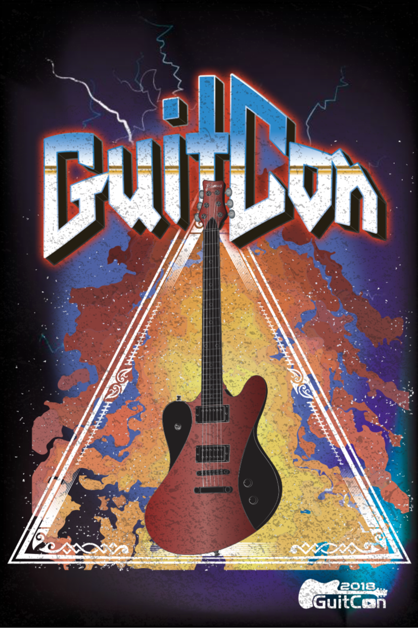 T-shirt Mockup for GuitCon Conference 2018