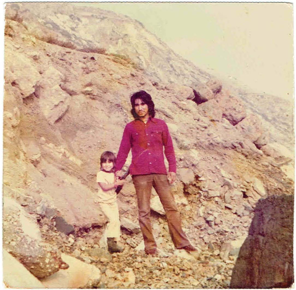 The author's father and brother, circa 1975
