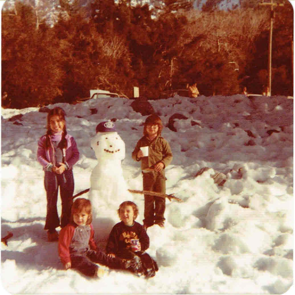 The author and her family, circa 1978