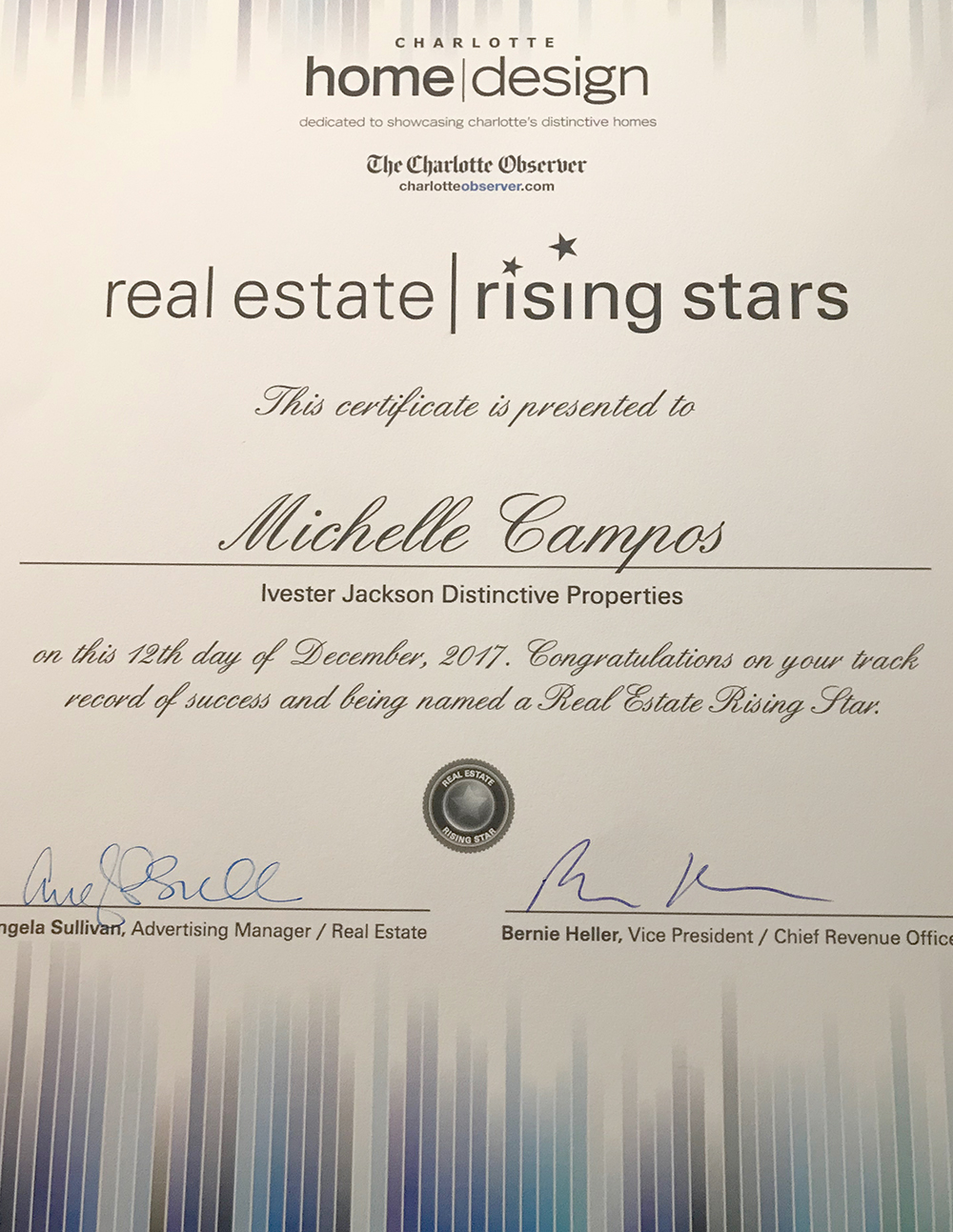 Michelle Campos Named One Of Charlottes Rising Stars Lake Norman