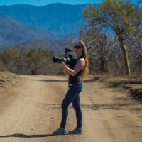 Katie Ann Plick, Lead Cinematographer, shooting in Mexico.