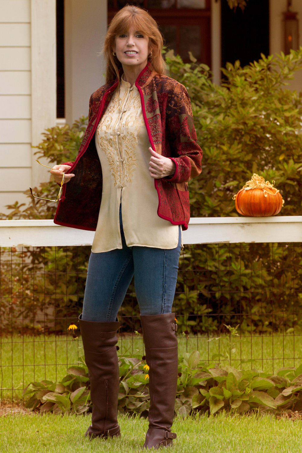 Low heels, Thigh High boots with Whistle River Trading and their Shenandoah Zip-Front Jacket