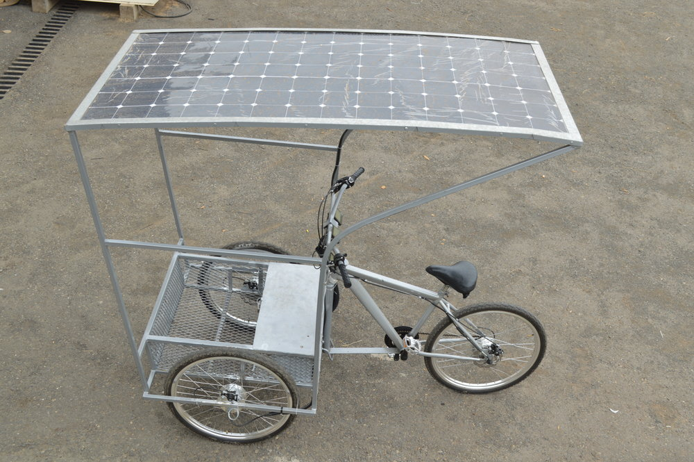 P09 - Our most recent prototype - Solar cargo tricycle