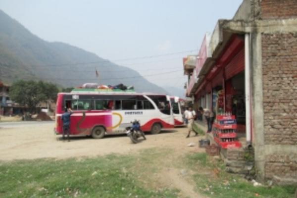 The bus I took to Besisahar