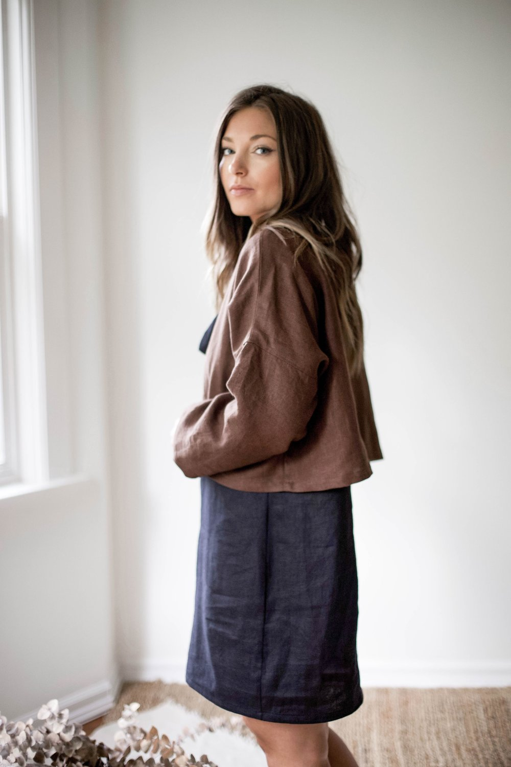 nomi-designs_ann-jacket_chocolate-colored-natural-linen-jacket_side_paired-with-hayley-mini-linen-dress.jpg