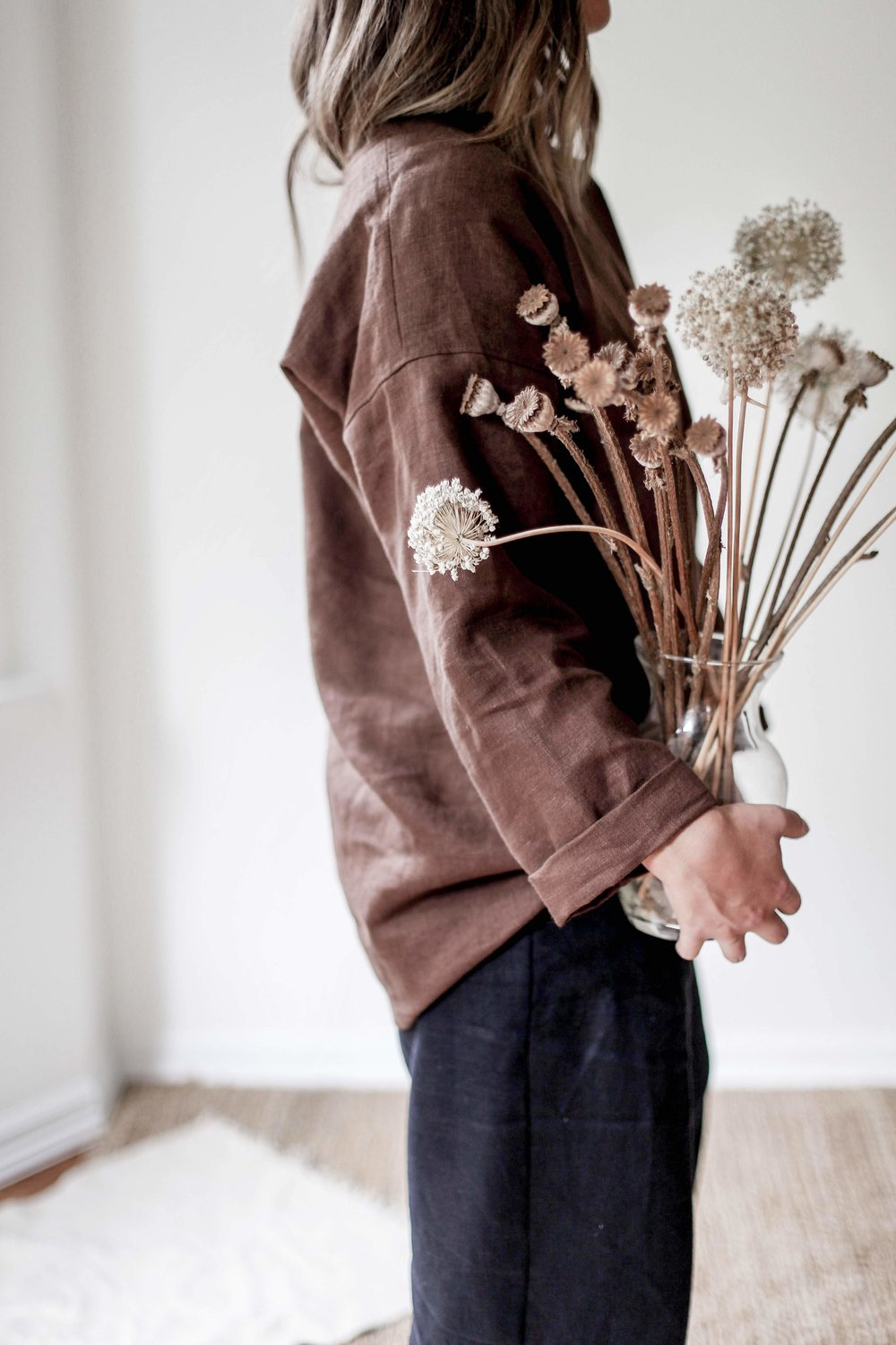 Slow sewn handmade linen women's fashion. Made with Love in Victoria, BC