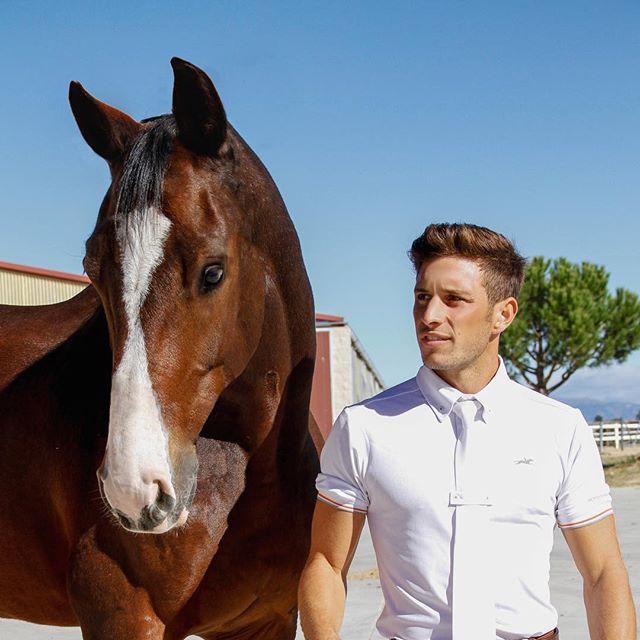 Feliz lunes!  Aquí tenéis una vez más a nuestro Jinete @maravermorales y Estuben.  Ignacio es alumno de Ángel @angelbermejohorses  #cnc #horses #caballo #jinete