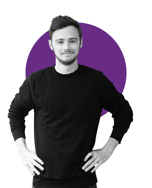 LOGAN MERRIAM  Design   Chapman, BFA   Logan is beyond passionate about healthcare. He was the launch and lead designer for healthcare data company Kinsa before becoming creative director at Noom.