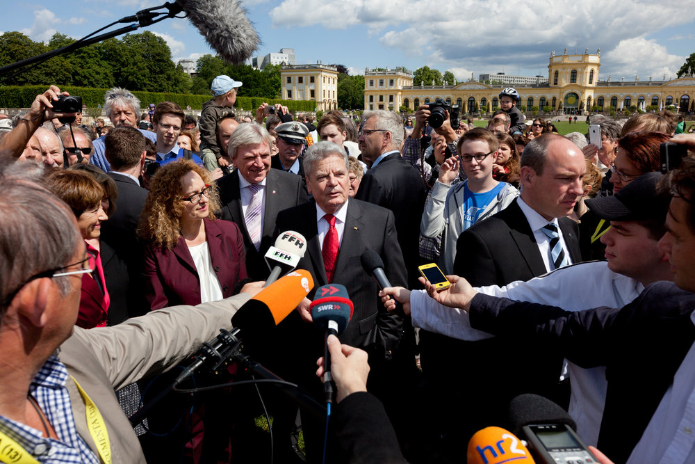 Continuing a tradition, newly elected German President Joachim Gauck, opened dOCUMENTA(13).  Kassel, Germany