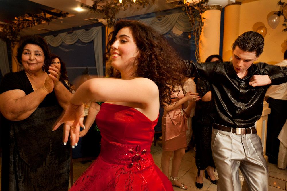 Much dancing and celebration accompany a traditional Tatar wedding.  Simferopol, Crimea