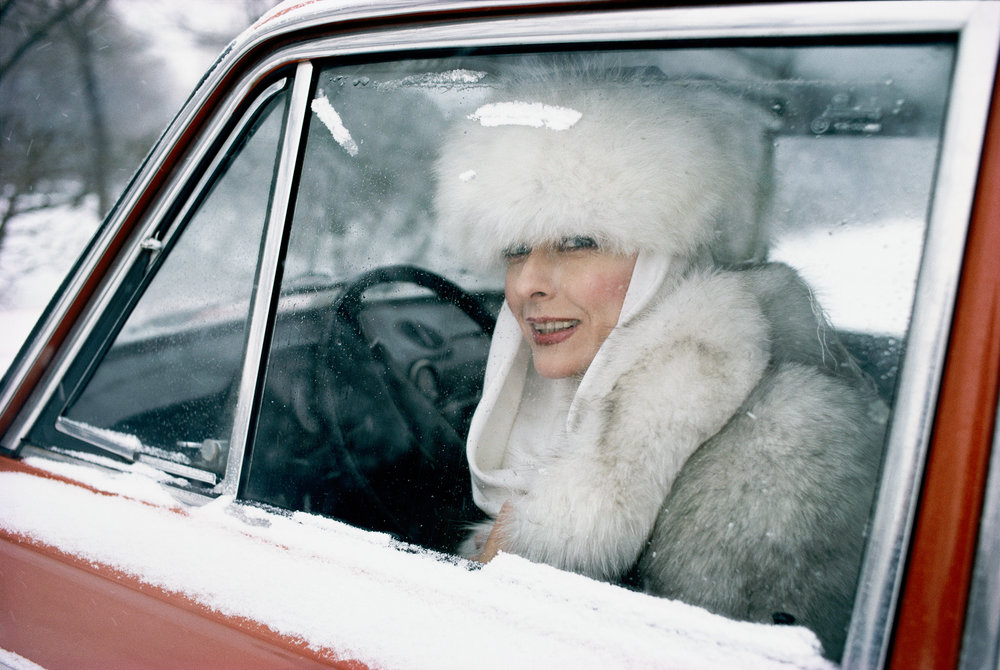 Renowned actress Anastasia Vertynskaya ranked among the few Russians privileged to own a new car in the late 1980s.  Moscow, Russia