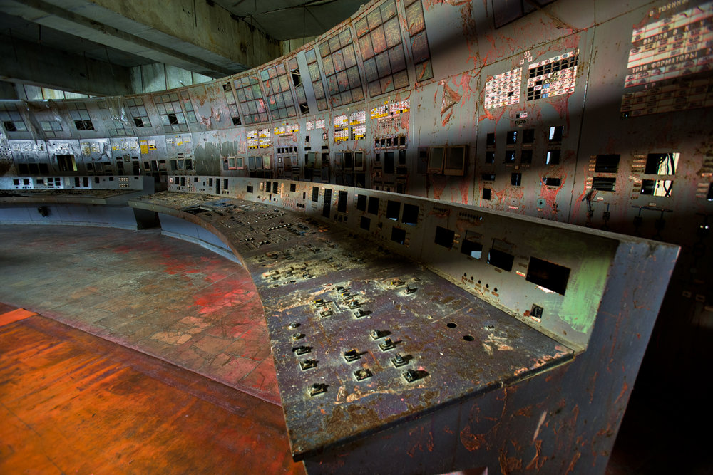Twenty years ago, here in the control room of Unit #4 operators committed a fatal series of errors, triggering the reactor meltdown that resulted in the world's largest nuclear accident to date.  Chernobyl Nuclear Power Plant (CNPP), Ukraine