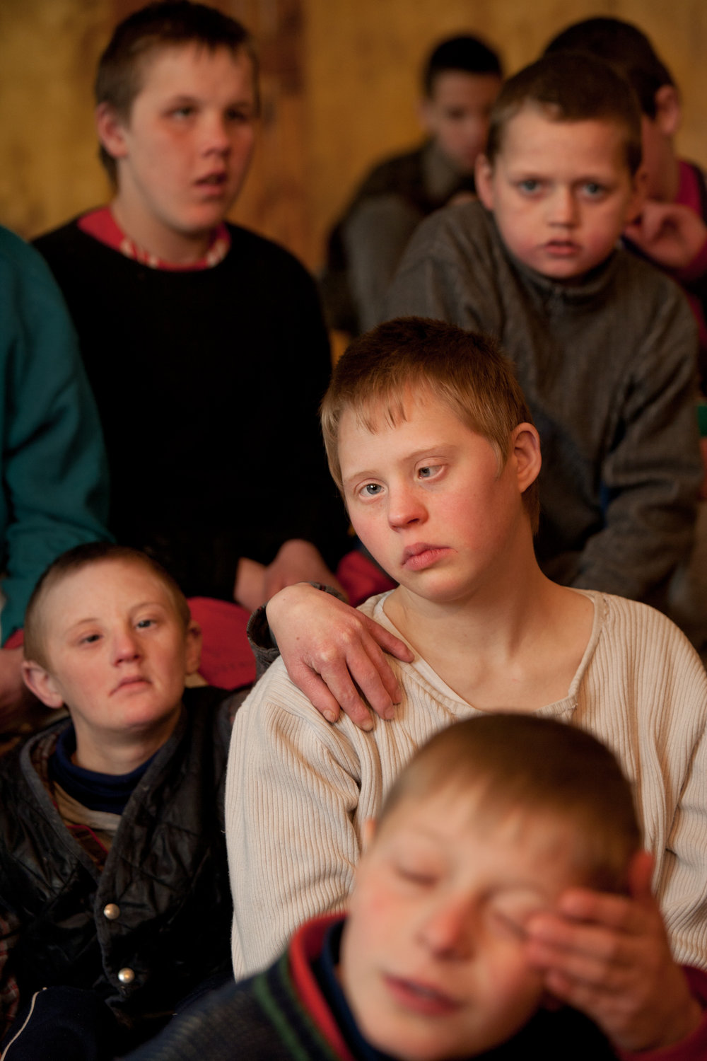 The Children's' Home in Vesnovo receives support from international aid organizations for the victims of Chernobyl to care for abandoned and orphaned children with mental and physical disabilities.  Vesnovo, Belarus