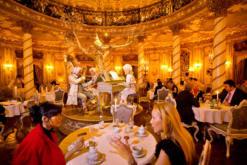 10:59PM - In the opulent Tourandot restaurant, Mozart is merely background to conspicuous consumption that has fueled Moscow's abrupt ascent to the ranks of the world's most expensive cities.