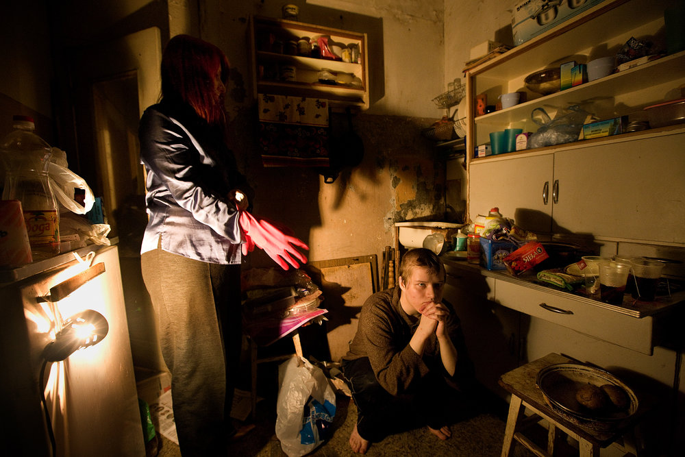 9:46 PM - Suffering from mental illness and sexual identity issues, Ronni (Veronika) Burmakova, 21, and her mother Ekaterina, 46, live together in an extremely run-down apartment.