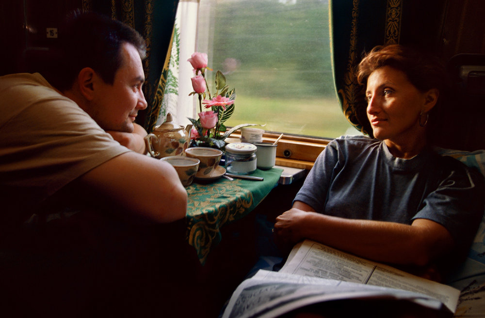 First Class Moment, Siberian Railroad, Russia 1996