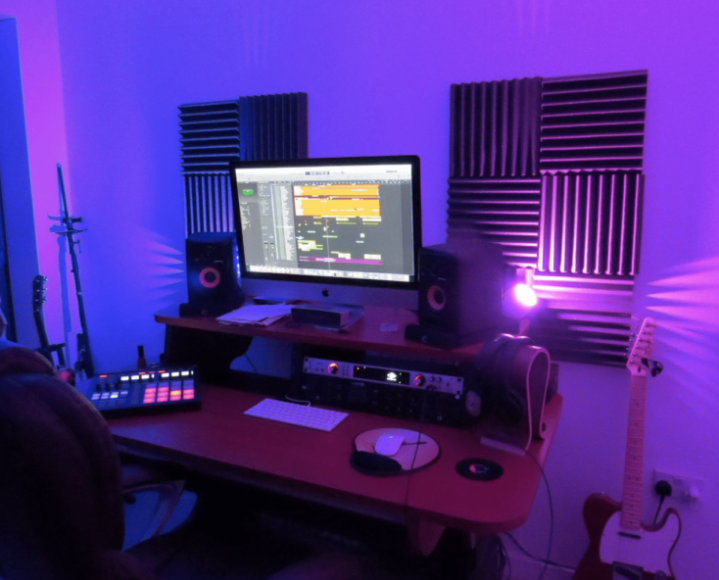 Aubrey's impressive home studio setup - very cool!