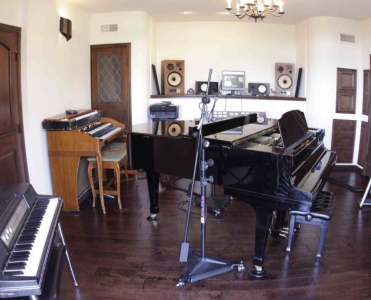 Ed's home studio has some impressive analog instruments...