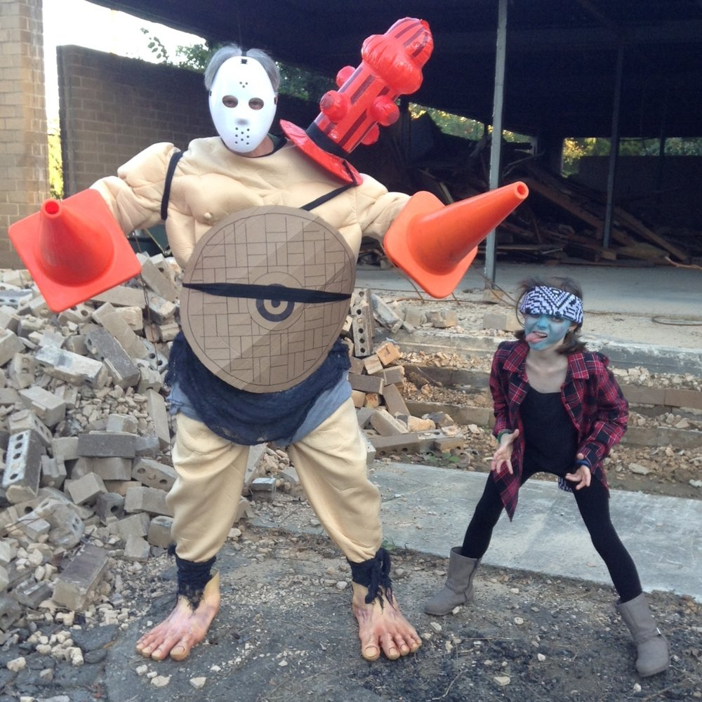 Cosplay contest entry from a father/daughter team