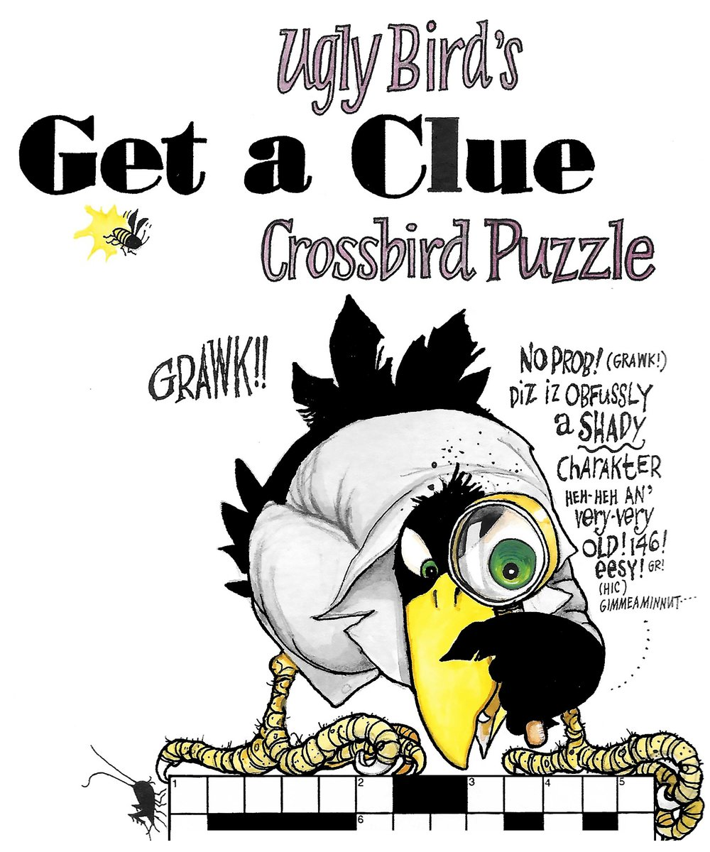 Ugly Bird's Get a Clue Crossbird Puzzle