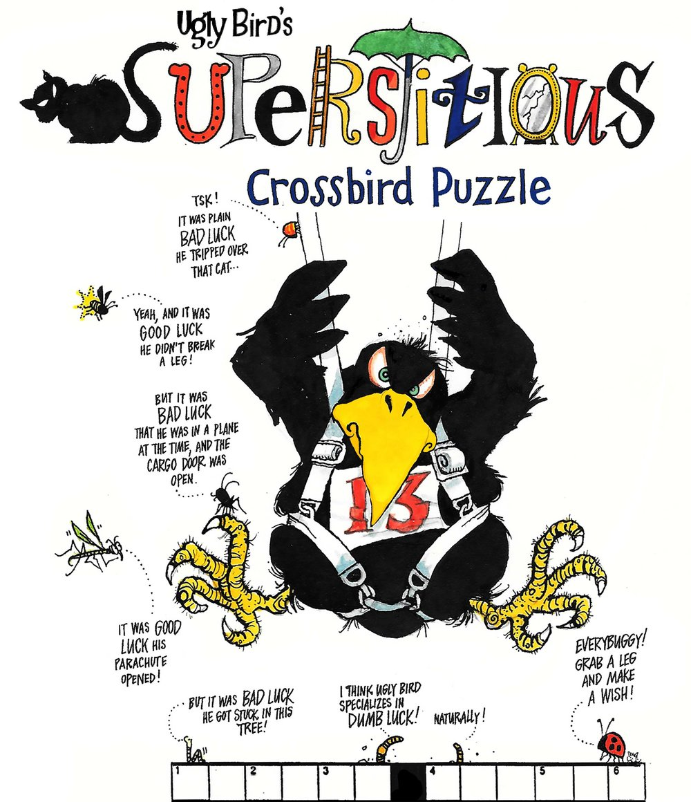 Ugly Bird's Superstizious Crossbird puzzle