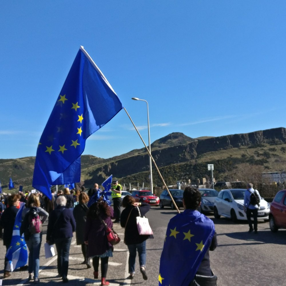 MARCH FOR EUROPE: dEMOCRACY ON BREXIT  - Saturday 24th of March 2018, St Giles Cathedral, Edinburgh