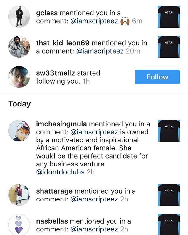 We appreciate all the love and support!! . . Thank you for tagging us on @idontdoclubs 😍😍😍 that's major. . . We have so much new inventory to share...can't wait. #StayTuned #SupportBlackBusiness #WomenInBusiness #MogulIsh #MogulMagic #Fashionblogger #TshirtInfluencer