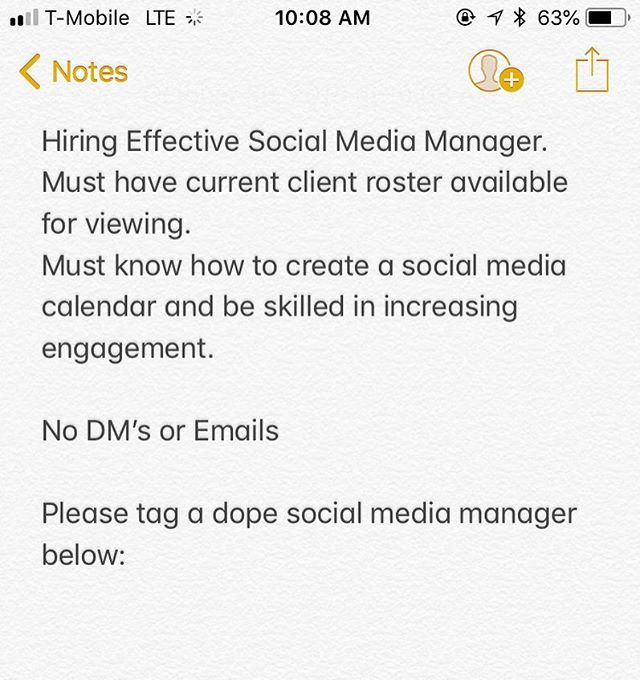 Greetings Everyone, . . #Scripteez is #Hiring #SocialMediaManager must be available for weekly meetings whether remote or face to face. . . Please comment below #TagBelow #LookingForSocialMediaManager #OnlineBusiness #Jobs #SocialMediaamarketing