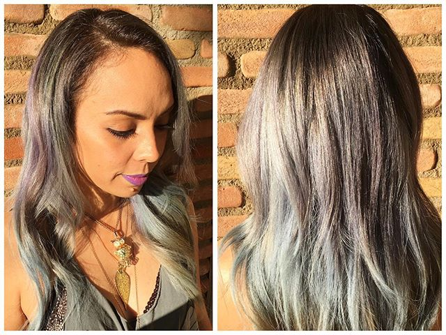 #pastelhair #unicornhair on this beautiful lady!