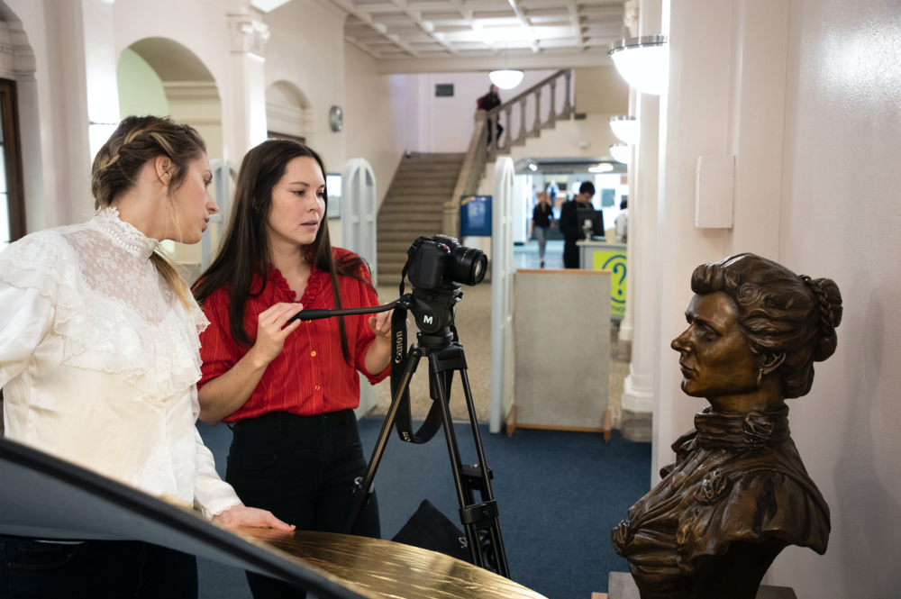 Stacy & Cassidy Film the Bust