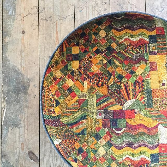 What do you think of this @libertylondon fabric that @hoginbrum used for his footstool this weekend? It was certainly popular in the workshop!