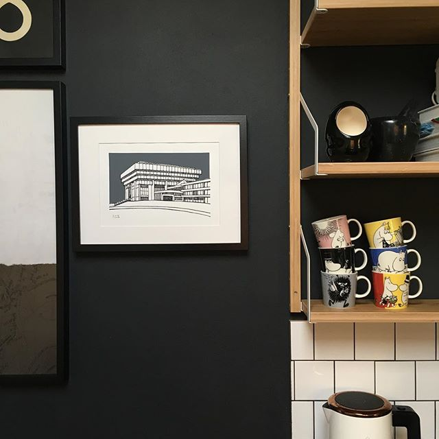 I couldn't resist keeping one of these Birmingham Central Library prints for myself - I've found the perfect spot for it in the kitchen. I still have a couple left in the shop and on the website, now with 20% off.