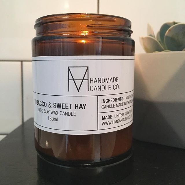 I'm really excited to have these hand-poured, soy wax beauties from @hmcandleco in the shop now - you must come and smell them! My favourite? Tobacco and Sweet Hay.