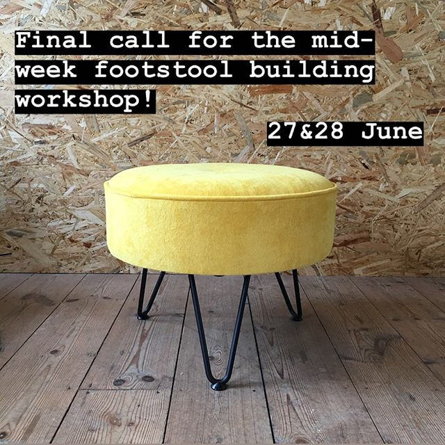 I have a couple of mid-week places left for you to have a go at upholstery and make your own bespoke footstool! . The 2-day course is £195 + fabric. Link in bio 👆🏻