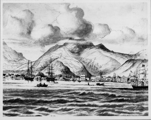 Honolulu Harbor around the 1870's.  Source: Hawai ' i State Archives Digital Collection