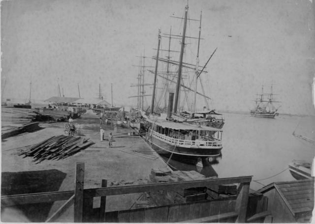 Honolulu Harbor around 1880's.  Source: Hawai ' i State Archives Digital Collection.