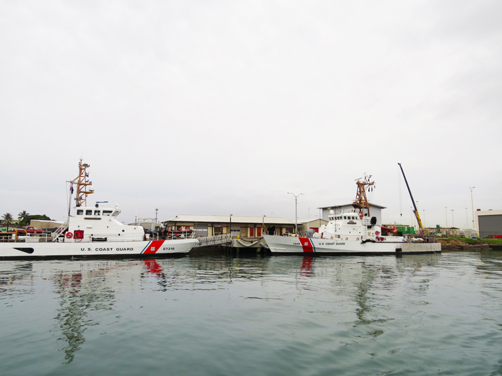 U. S. Coast Guard vessels.