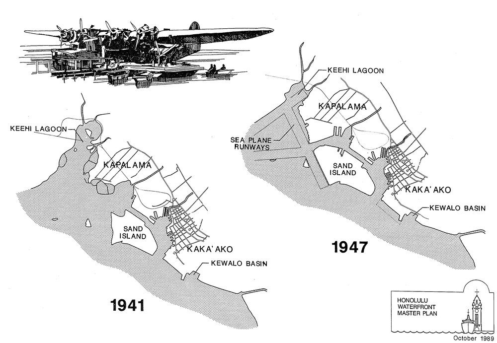 Development of the harbor. Source:  Honolulu Waterfront Master Plan 1989.
