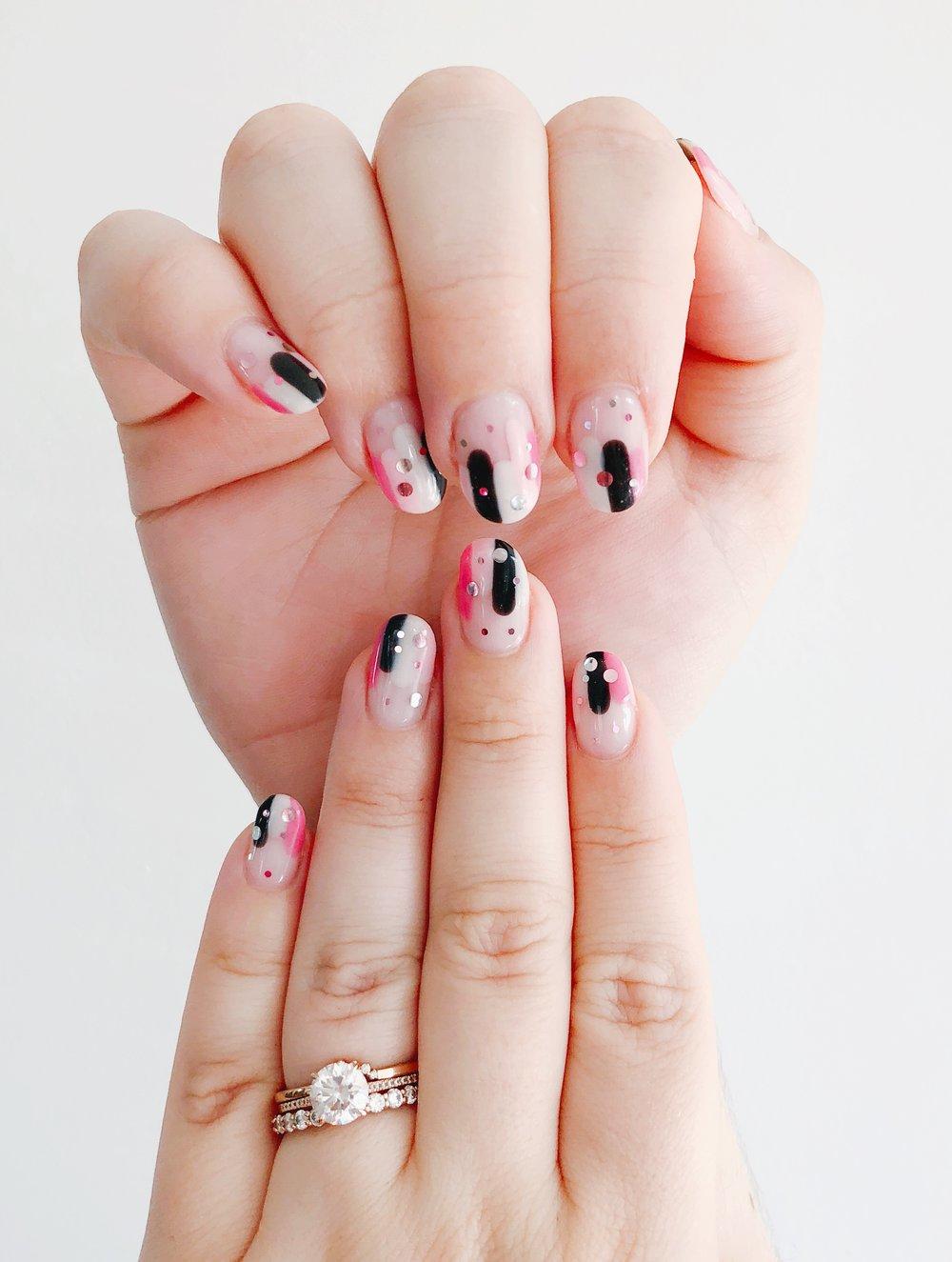 Brushstroke Nail Art Ashley Hosmer