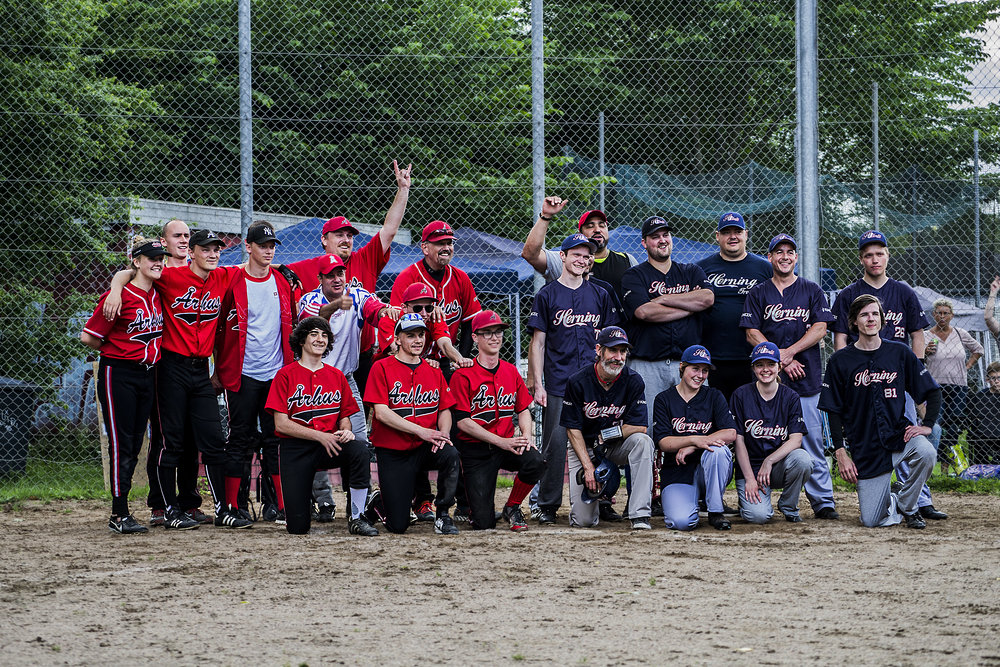Århus Baseball Softball Klub, Baseball Team (Left) and Herning Trolls Baseball Club (Right)