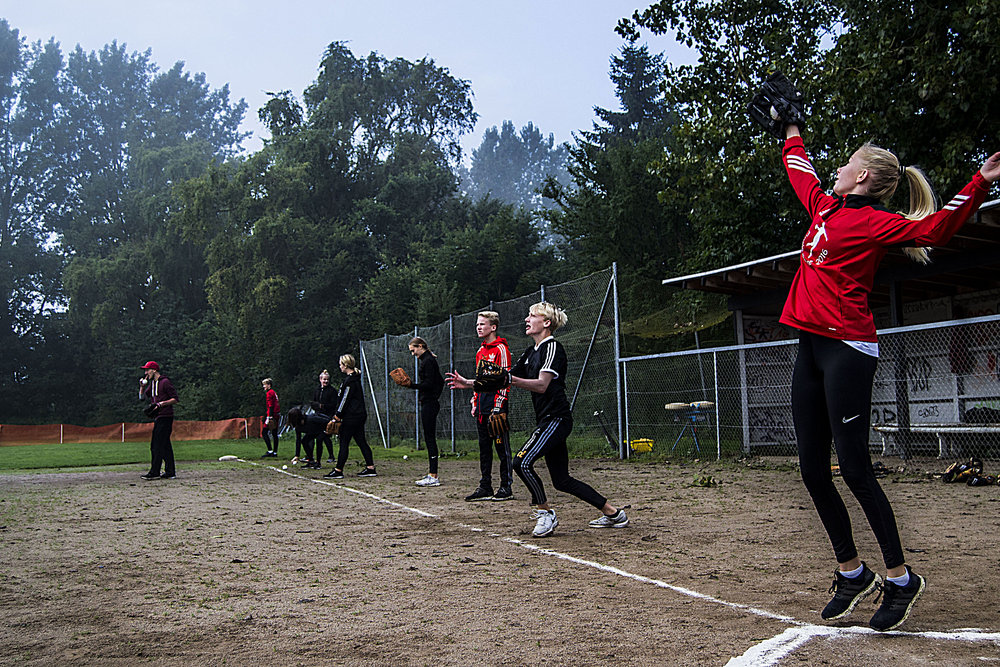 Skæring Skole på besøg hos Århus Baseball Softball Klub