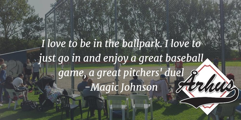 i love to be in the ballpark. i love to just go in and enjoy a great baseball game, a great pitchers' duel - magic johnson