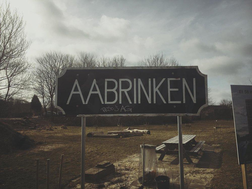 Skilt ved Åbrinkvej
