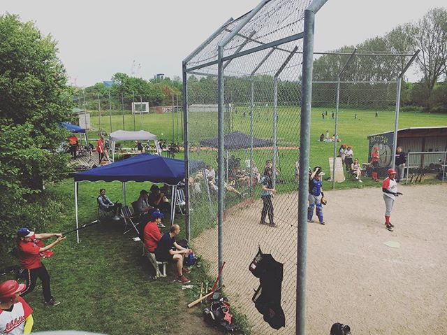 Official opening of the home field when we hosted the first baseball games on the Århus field last Sunday ⚾️⚾️⚾️